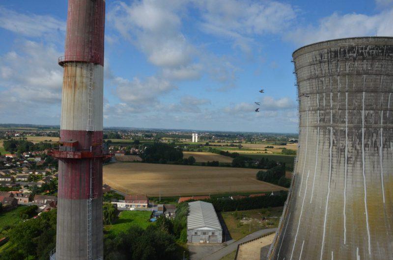 Vue d'en haut de la centrale thermique d'Hornaing