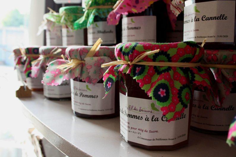 Pots de confiture du magasin au fil des saisons - ©Marie Petit