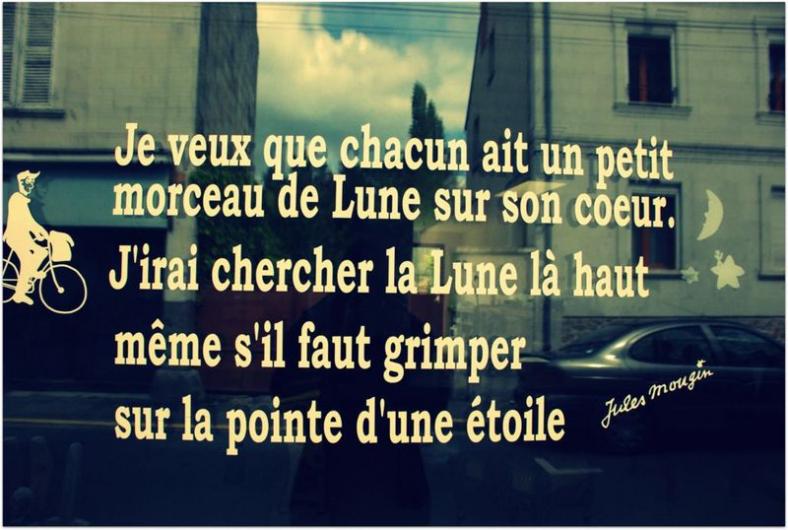 Citation de Jules Mougin, poète né à Marchiennes ©Musée de Marchiennes